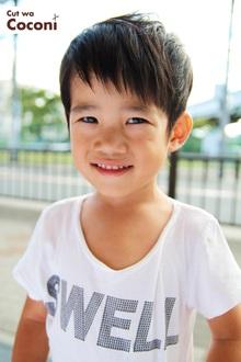 かわいいお子様カット!笑顔のかわいい男の子が、来てくれました〜!!!|Cut wa Coconi (交野市美容室・美容院)のヘアスタイル