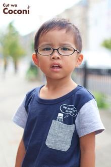かわいいお子様カット!メガネ男子のかわいい子です〜!!!|Cut wa Coconi (交野市美容室・美容院)のヘアスタイル