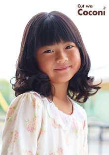 かわいいお子様カット!乙女なコテ巻きアレンジ〜!!!|Cut wa Coconi (交野市美容室・美容院)のヘアスタイル