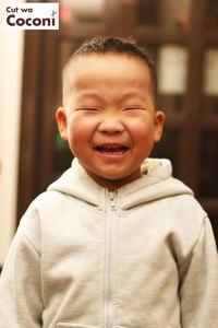 かわいいお子様カット〜笑顔が素敵過ぎるね!!!