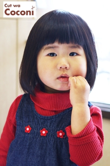 かわいいお子様カット〜お利口なかわいい女の子さんです!!!|Cut wa Coconi (交野市美容室・美容院)のヘアスタイル