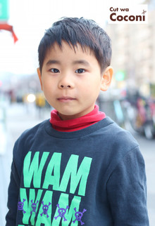 かわいいお子様カット!初めてのご来店、かわいい男の子です〜!!!|Cut wa Coconi (交野市美容室・美容院)のヘアスタイル