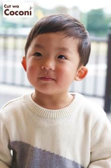 かわいいお子様カット〜いつも、かわいい男の子!!!|Cut wa Coconi (交野市美容室・美容院)のヘアスタイル