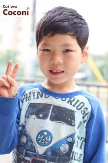 かわいいお子様カット〜ピカピカの一年生の男の子のカット!!!|Cut wa Coconi (交野市美容室・美容院)のヘアスタイル