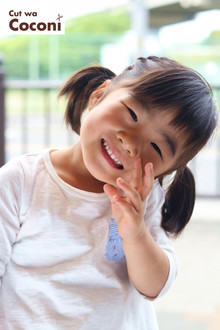 かわいいお子様カット!いい子でカットさせてくれたね〜かわいい女の子☆|Cut wa Coconi (交野市美容室・美容院)のヘアスタイル