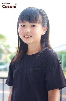 かわいいお子様カット!サラサラの黒髪の女の子〜☆|Cut wa Coconi (交野市美容室・美容院)のヘアスタイル
