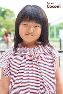 かわいいお子様カット!めっちゃ、髪 軽くなっていい感じやね☆|Cut wa Coconi (交野市美容室・美容院)のヘアスタイル