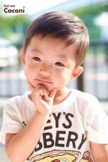 かわいいお子様カット!スッキリと夏らしくカット〜☆|Cut wa Coconi (交野市美容室・美容院)のヘアスタイル