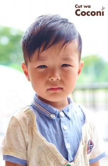 かわいいお子様カット!笑顔が、いいね〜☆ツーブロックも、いい感じ〜!!!|Cut wa Coconi (交野市美容室・美容院)のヘアスタイル