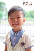 かわいいお子様カット!笑顔が、いいね〜☆ツーブロックも、いい感じ〜!!!