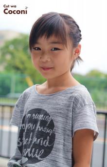 かわいいお子様カット!編み込みアレンジで、いい感じ〜☆|Cut wa Coconi (交野市美容室・美容院)のヘアスタイル