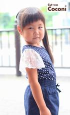 かわいいお子様カット!編み込みアレンジ〜かわいいね☆|Cut wa Coconi (交野市美容室・美容院)のヘアスタイル