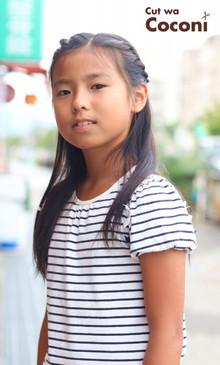 かわいいお子様カット!ナチュラルな可愛い女の子のカット〜☆|Cut wa Coconi (交野市美容室・美容院)のヘアスタイル