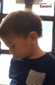 かわいいお子様カット!綺麗な茶色のナチュラルな髪色の男の子カット☆