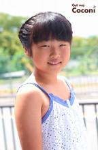 かわいいお子様カット!夏祭り〜編み込みヘアアレンジ☆|Cut wa Coconi (交野市美容室・美容院) Yumiko Sakaiのキッズヘアスタイル