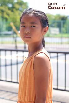 かわいいお子様カット!編みこみアレンジ〜夏らしい女の子〜☆|Cut wa Coconi (交野市美容室・美容院)のヘアスタイル