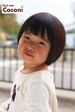 かわいいお子様カット!前髪カットで、いい感じ〜☆|Cut wa Coconi (交野市美容室・美容院)のヘアスタイル