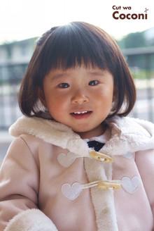 かわいいお子様カット!いつも、お利口な女の子〜今回は、編み込みもさせてもらいました〜☆|Cut wa Coconi (交野市美容室・美容院)のヘアスタイル