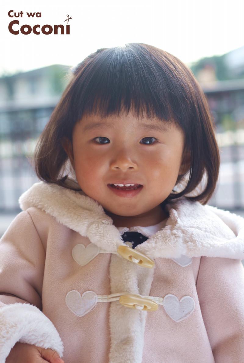 かわいいお子様カット!いつも、お利口な女の子〜今回は、編み込みもさせてもらいました〜☆
