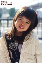 かわいいお子様カット!前髪のカット〜スッキリいい感じ☆|Cut wa Coconi (交野市美容室・美容院)のヘアスタイル