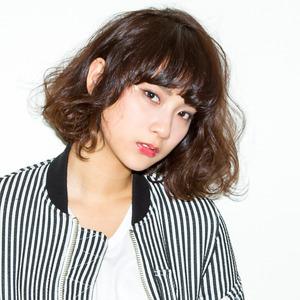 girly bob style☆厚めバング|DaB OMOTESANDOのヘアスタイル