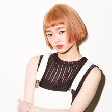 デザインカラー×切りっぱなしボブ☆厚めバング|DaB OMOTESANDO MIYOKOのヘアスタイル