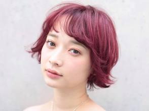 デザインカラー☆オン眉シースルーバング|DaB OMOTESANDOのヘアスタイル