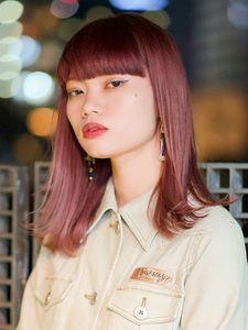 ワイドバング/ラズベリーピンクミディー|DaB OMOTESANDOのヘアスタイル