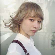 透明感!ブリティッシュブロンド☆/デザインカラー|DaB OMOTESANDOのヘアスタイル