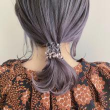 ダウンスタイル×ラベンダーカラー|DaB OMOTESANDOのヘアスタイル