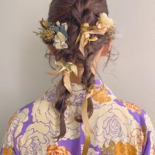 袴*ツインダウンのアシンメトリーアレンジ|DaB OMOTESANDOのヘアスタイル