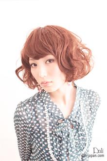 ダリのミディアムパーマスタイル|Dali  梅田 ダリ梅田店のヘアスタイル