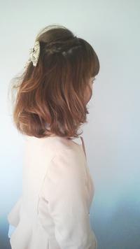 ハーフアップの巻き髪セット