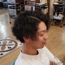 ワイルドパーマ|美容室 ドルチェ 浅川店 須崎 友介のメンズヘアスタイル