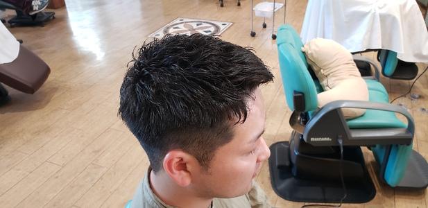 ゆるフェードショート|美容室 ドルチェ 浅川店のヘアスタイル