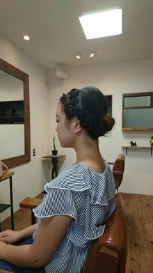 編み込みロールアップ|eternity hairのヘアスタイル
