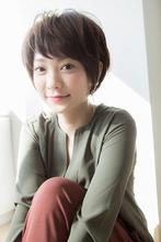 【Euphoria銀座本店】丸みのある小顔ショート☆|Euphoria 銀座本店のヘアスタイル