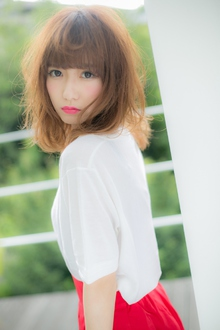 【Euphoria】風がさらりと抜ける♪ヘルシーセミロング☆|Euphoria HARAJUKUのヘアスタイル