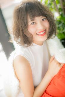 【Euphoria】ふんわりゆる甘フォルム☆ベビーバングホイップボブ Euphoria HARAJUKUのヘアスタイル