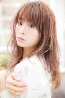 【Euphoria】春を彩る♪クリスタルクリアピンク☆セミディ|Euphoria HARAJUKUのヘアスタイル