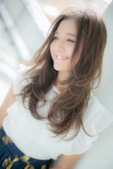 【Euphoria】軽やかさを味方につけた☆透けで魅せるふわグラヘア|Euphoria HARAJUKUのヘアスタイル