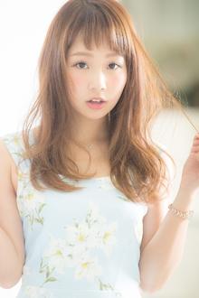 【Euphoria】煌めく日差しを味方につける☆シースルーセミディ|Euphoria HARAJUKUのヘアスタイル