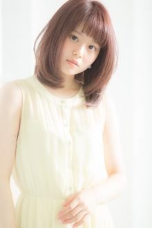 【Euphoria】カラーでフェミニンな透明感♪ストロベリーアイス☆|Euphoria HARAJUKUのヘアスタイル