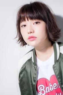 【Euphoria】外ハネでオシャカワ☆切りっぱなしボブ☆|Euphoria HARAJUKUのヘアスタイル
