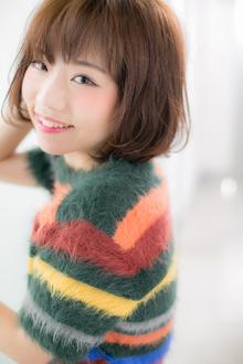 【Euphoria】ふんわり感がキュート☆柔らか質感ボブ☆|Euphoria HARAJUKUのヘアスタイル