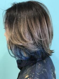 【EuphoriaHARAJUKU】ネイビーチップ×グラデーション 担当森|Euphoria HARAJUKUのヘアスタイル