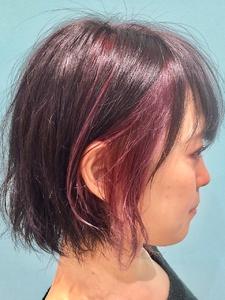 【EuphoriaHARAJUKU】ちらっと耳かけ色で人との差別化★担当関口|Euphoria HARAJUKUのヘアスタイル