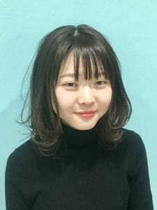 【Euphoria】グレージュ×レイヤーロブ 担当黒田|Euphoria HARAJUKUのヘアスタイル