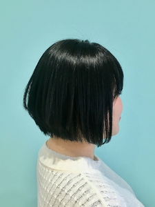 【Euphoria】前下がりショートボブ×ブルーブラック★担当黒田|Euphoria HARAJUKUのヘアスタイル