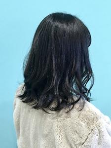 【EuphoriaHARAJUKU】切りっぱなしミディ×ダークグレージュ黒田|Euphoria HARAJUKUのヘアスタイル